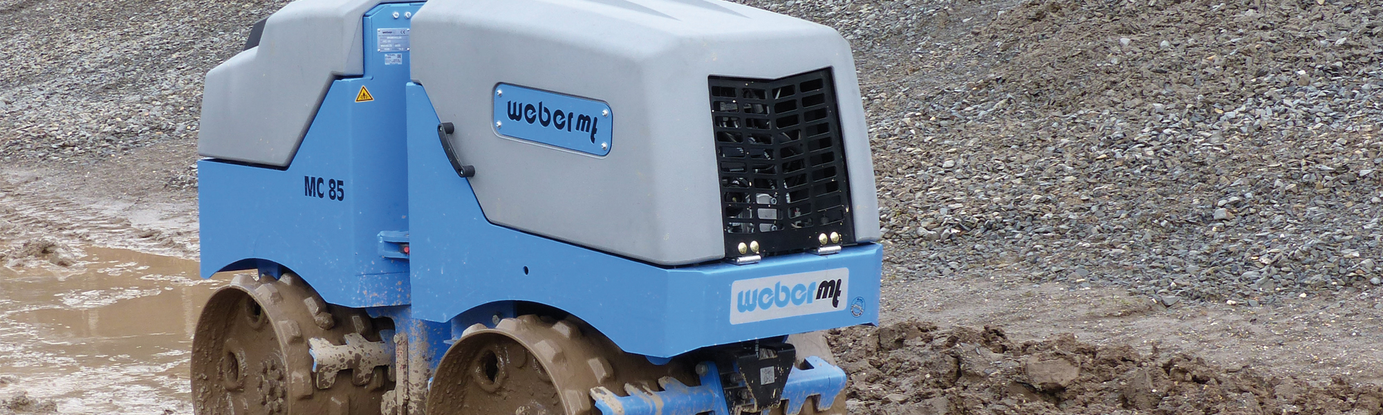 The new MC 85 Trench roller (Multipurpose compactor)